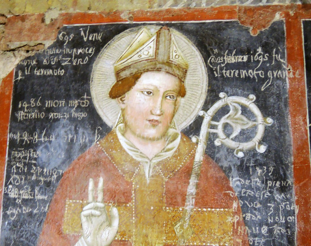 Inscription on the frescoes