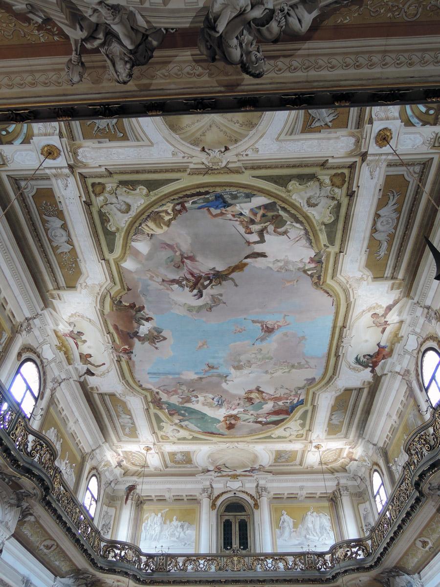 Villa Pisani Ballroom ceiling