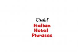 Italian hotel phrases