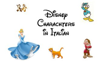 Disney characters in Italian