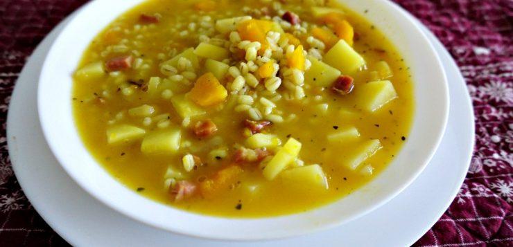 Italian barley soup: La zuppa d'orzo