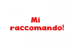 what does mi raccomando mean