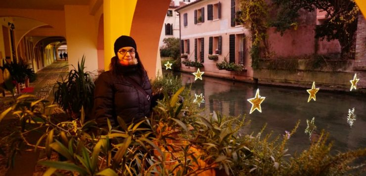 Christmas in Treviso: Pink dusk at the Buranelli Canal