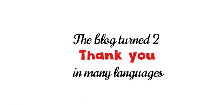 Thank you in many languages… ish