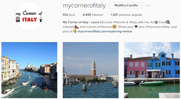 mycornerofitaly instagram account about italy