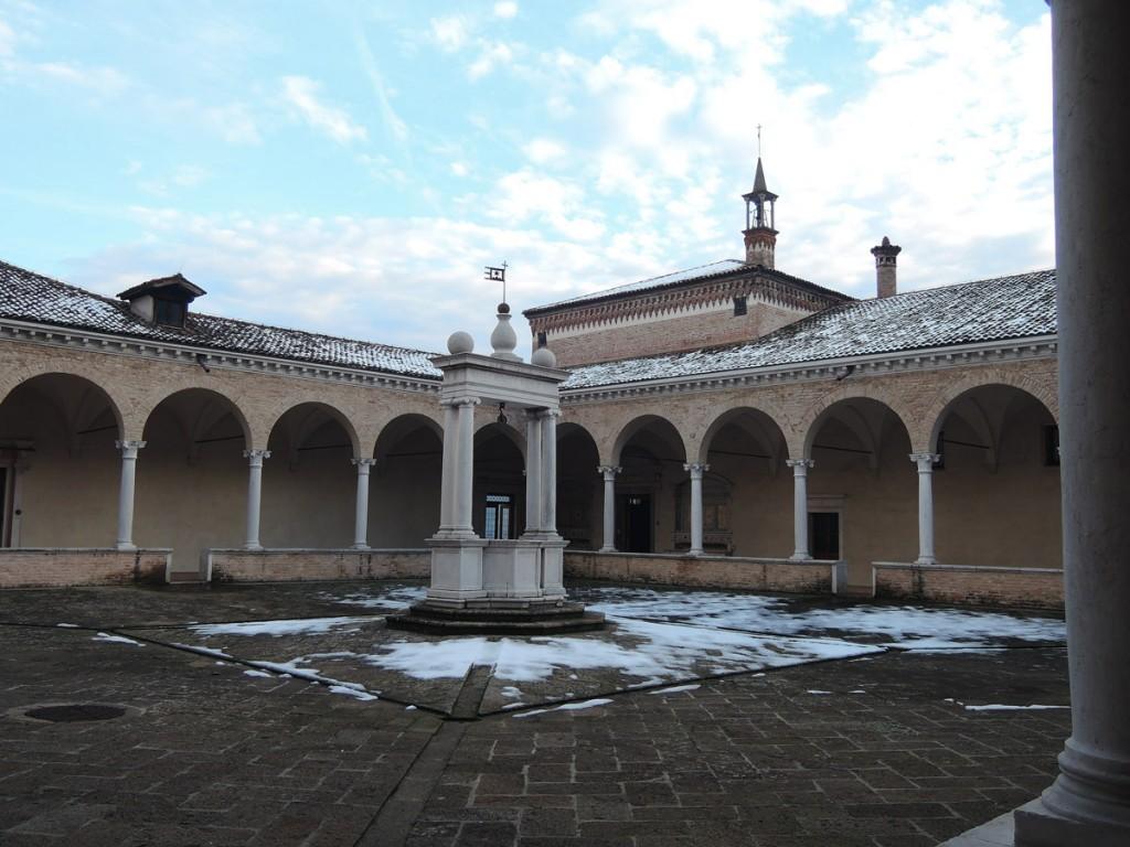 Praglia Abbey cloister