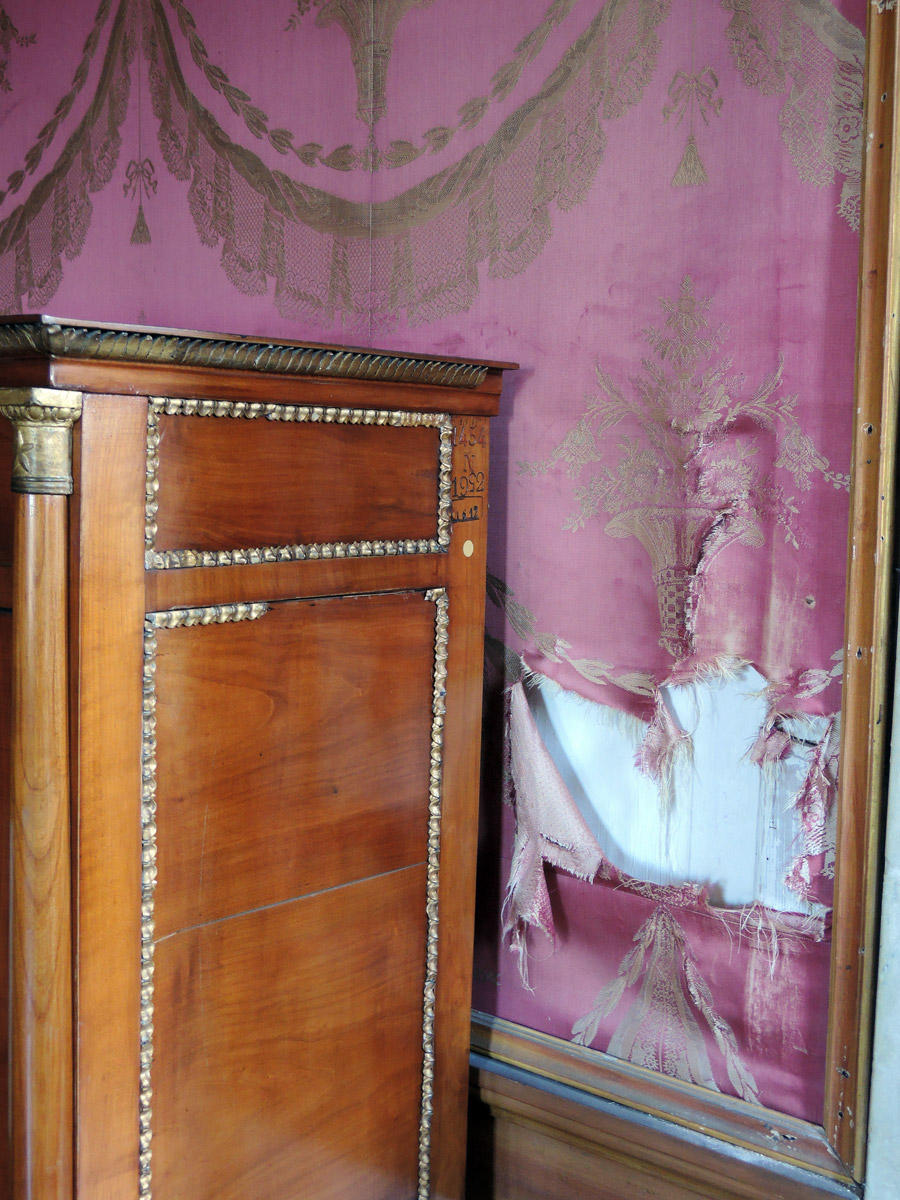 Red Room torn fabric