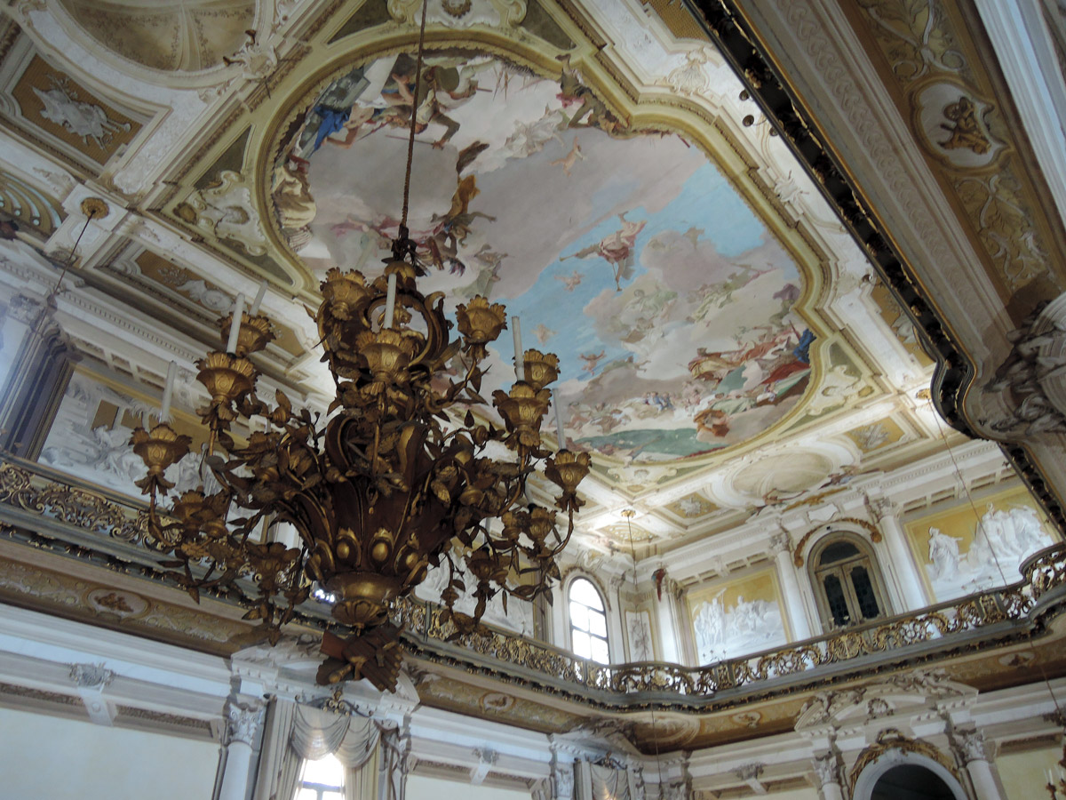 Tiepolo Fresco with chandelier