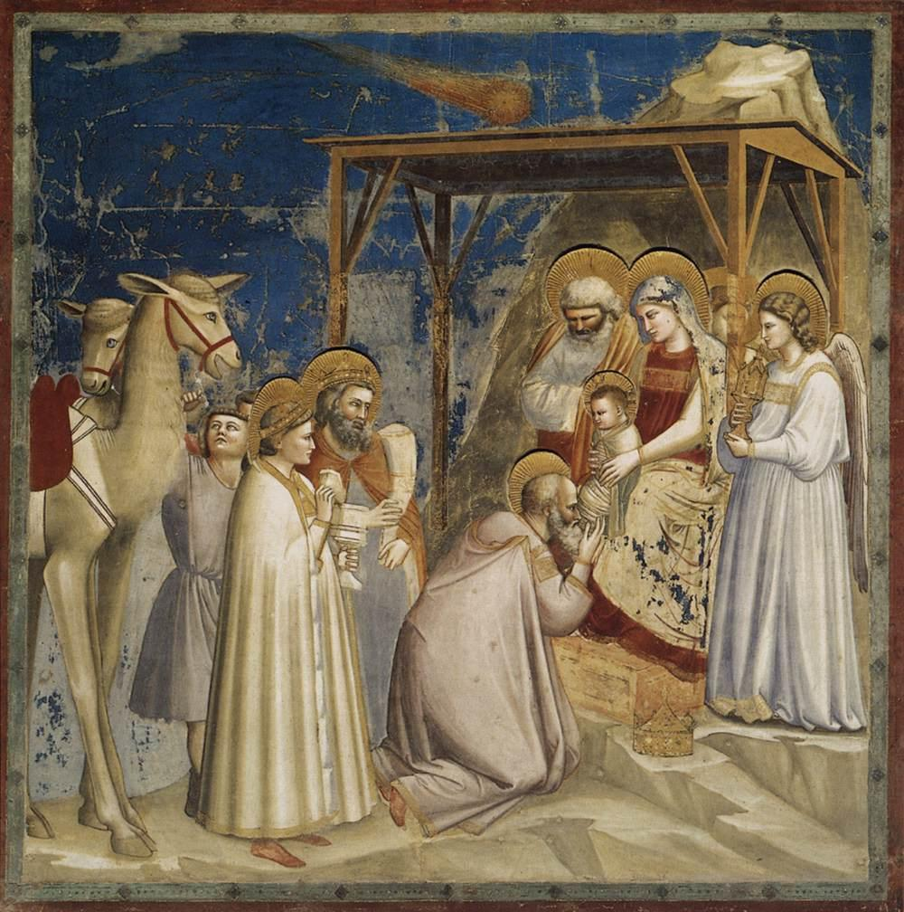 Giotto, Adoration of the Magi and Halley Comet, Scrovegni Chapel ©it.wikipedia.org