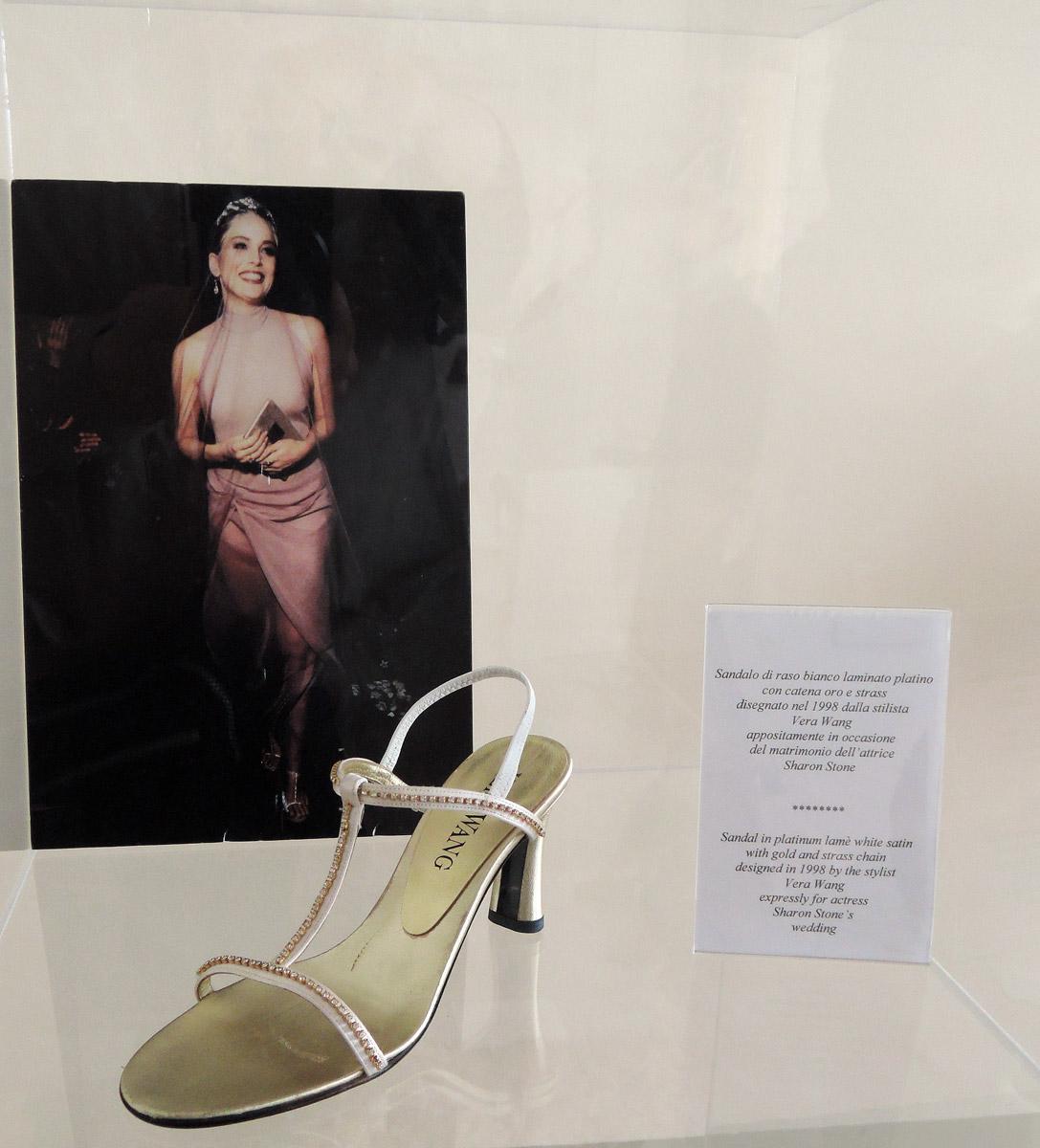 Sharon Stone's wedding shoes by Vera Wang