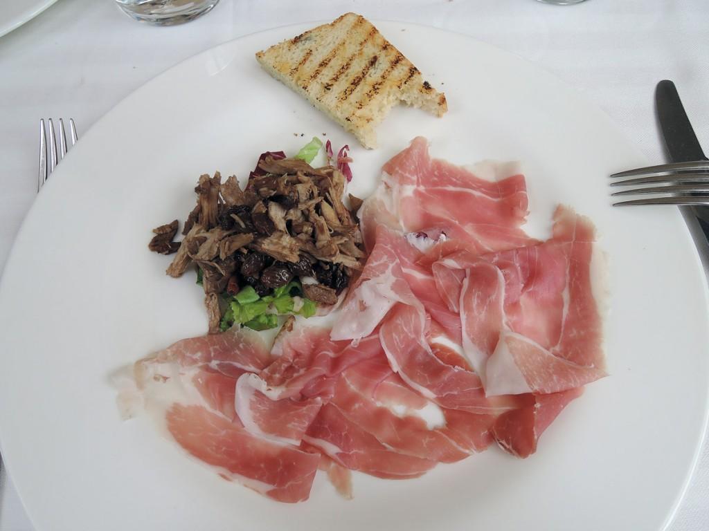 Prosciutto I ate at Hostaria di San Benedetto in Montagnana