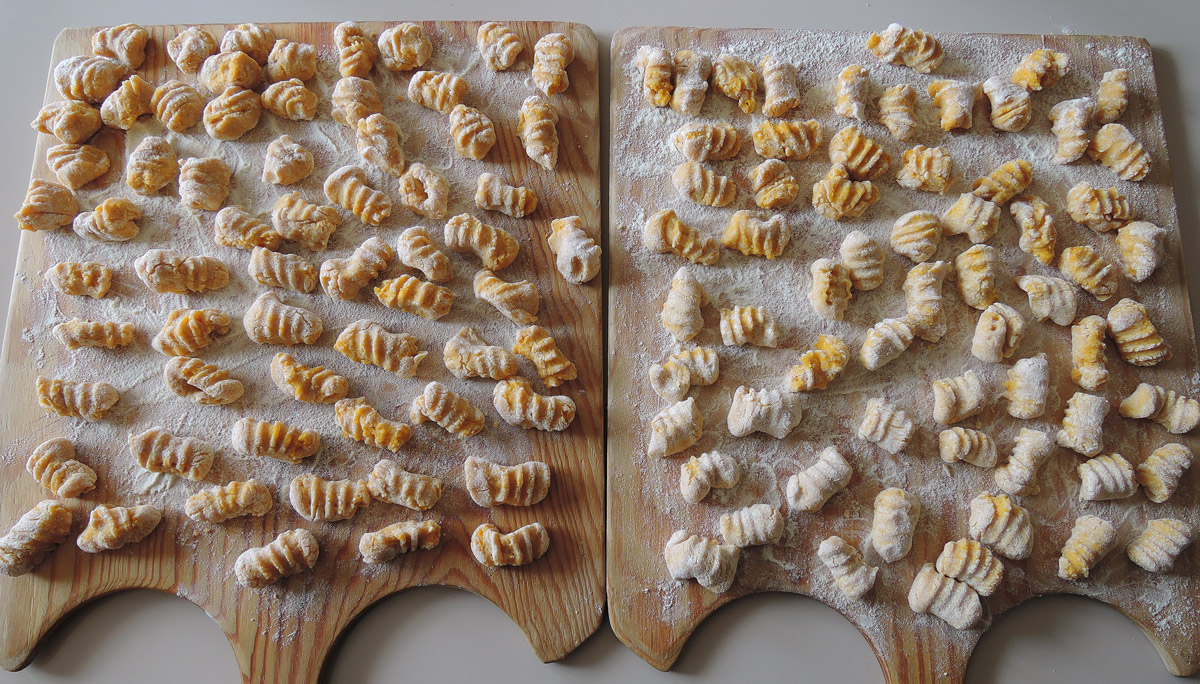 Italian pumpkin gnocchi