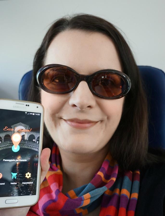 Me with Ecco Venezia on my smartphone