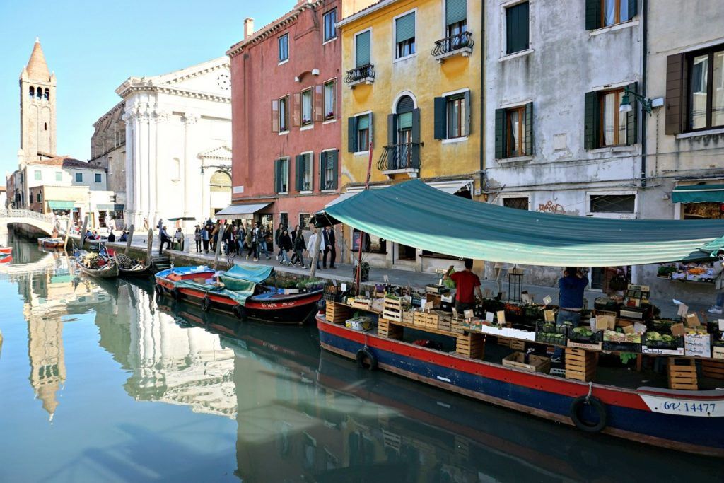 Venice greengrocer on boat