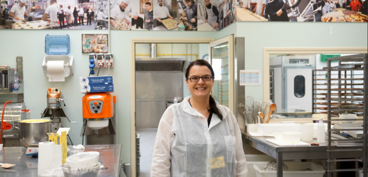 Me in the Pasticceria Giotto lab