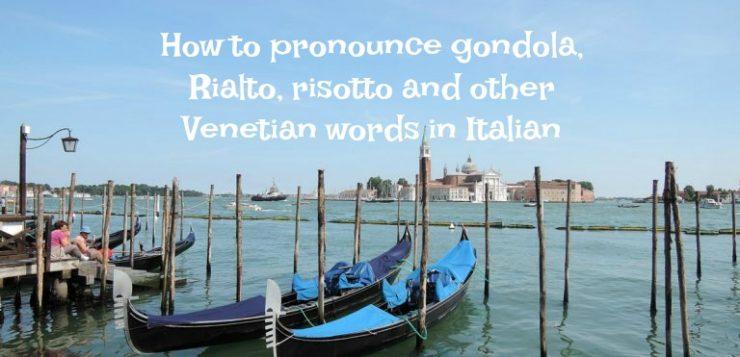 How to pronounce gondola
