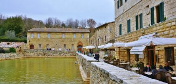 Bagno Vignoni: where the main piazza is a hot water pool