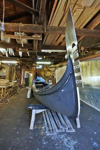 Gondola in the squero