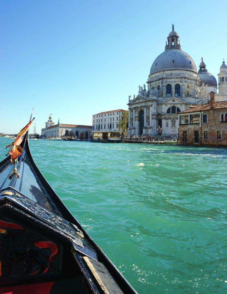 Salute basilica from the gondola